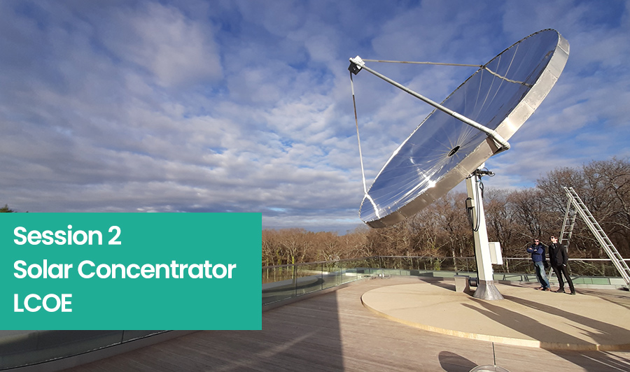 solar concentrator lcoe